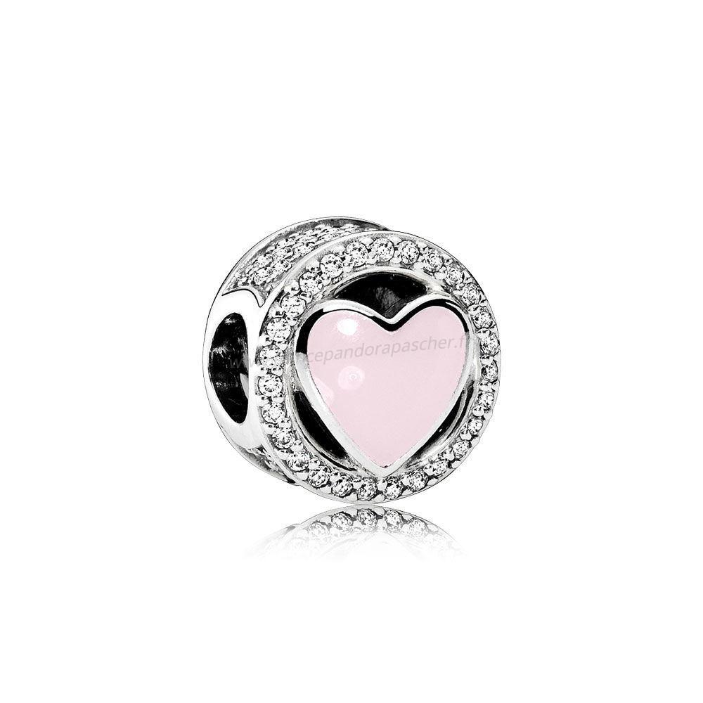 Vente Bijoux Charms Wonderful Amour Soft Rose Enamel Clear Cz Pandora Magasin